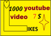 1k promotion your video nicely in super short time