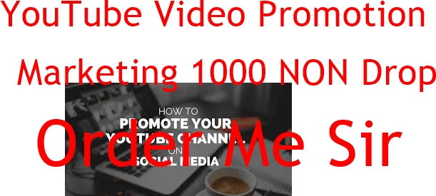 YouTube Video Promotion and Marketing 1000 NON Drop