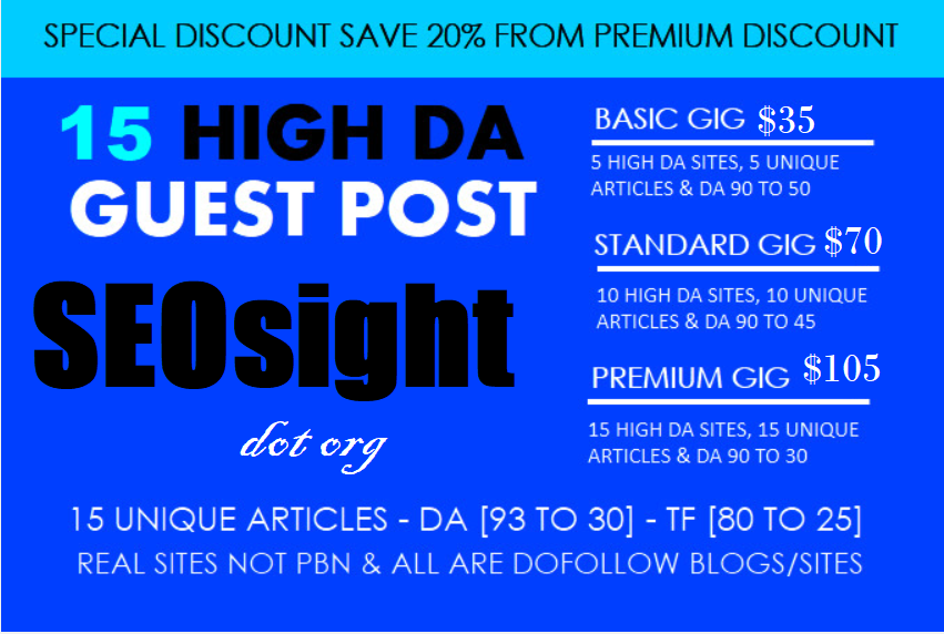 Write And Publish 15 High DA Guest Post DA 30 To 93