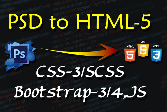 Convert Psd To Html,  Sketch To Html,  Bootstrap Responsive