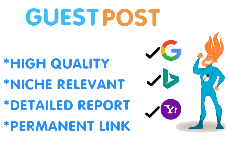 Publish 2x Niche Guest Post In High Authority Blogs