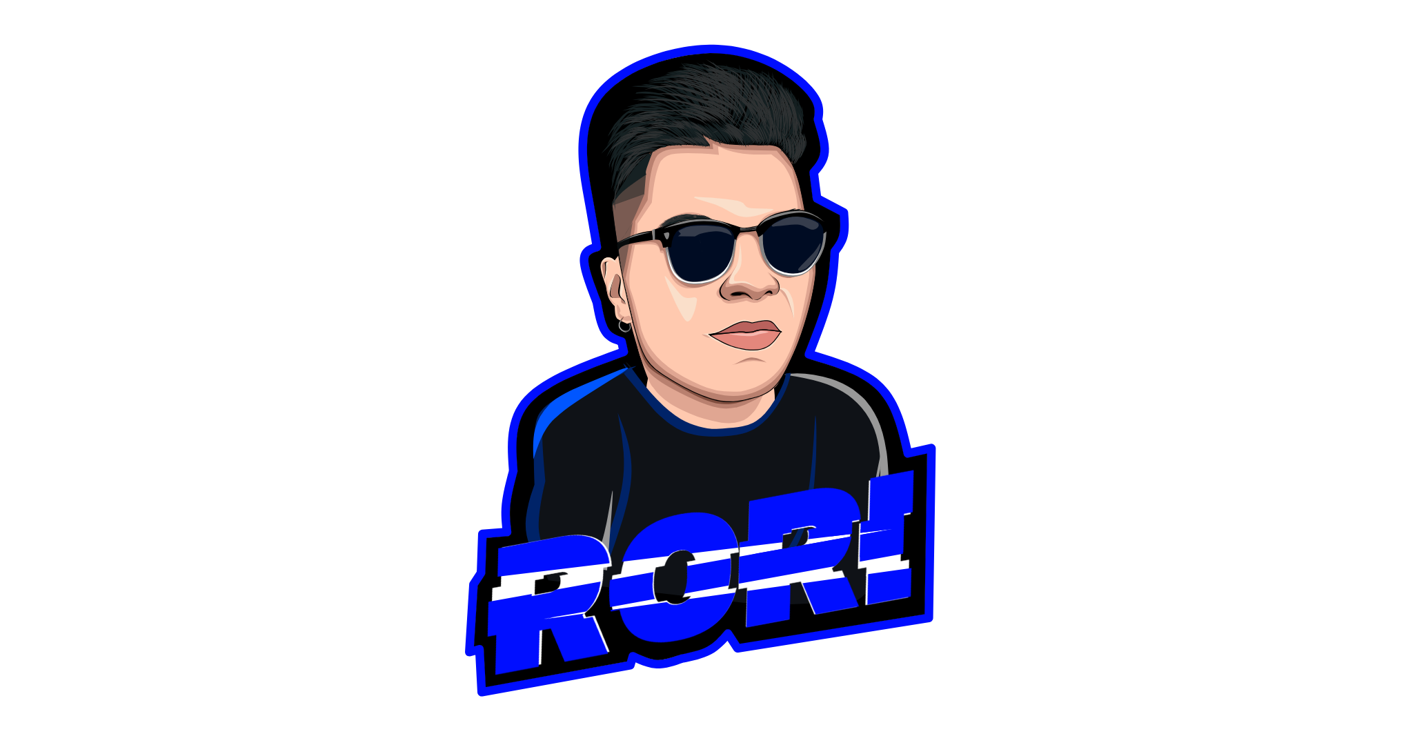 i will make cartoon twitch emote, sub badges, avatar esport for $40