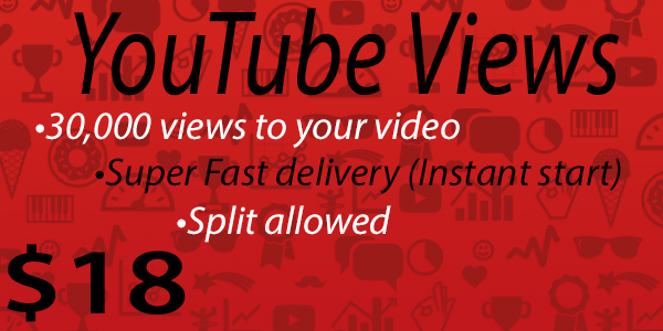 30,000+ High Quality Youtube Vie ws Fast delivery