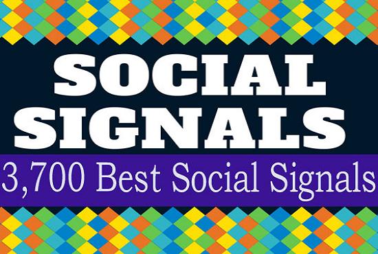 Build up 3700 Manually SEO Social Signals