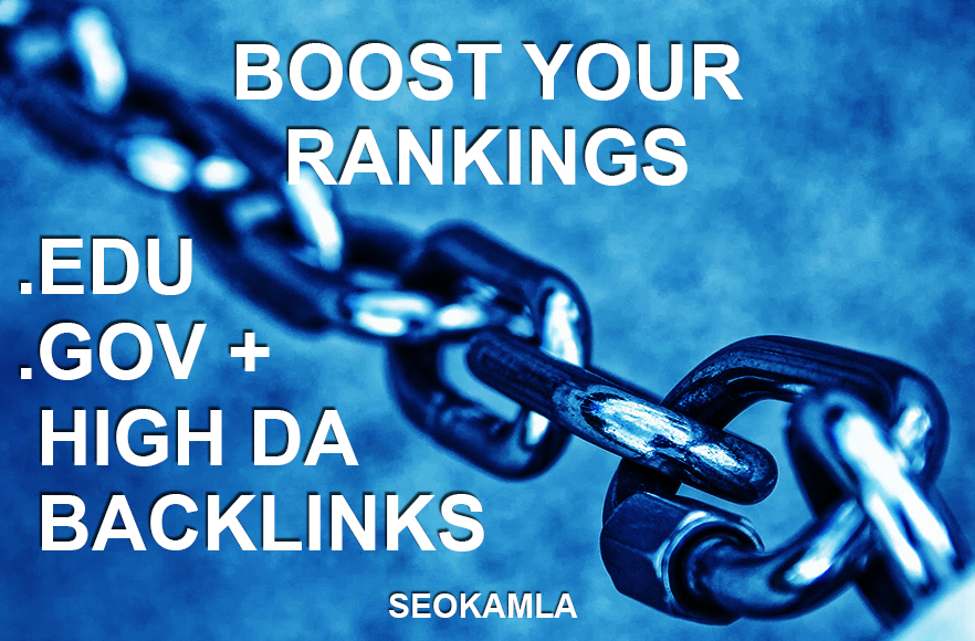 Manually do 20 High DA + 20 EDU/GOV Safe SEO BACKLINKS 2019 Best Results