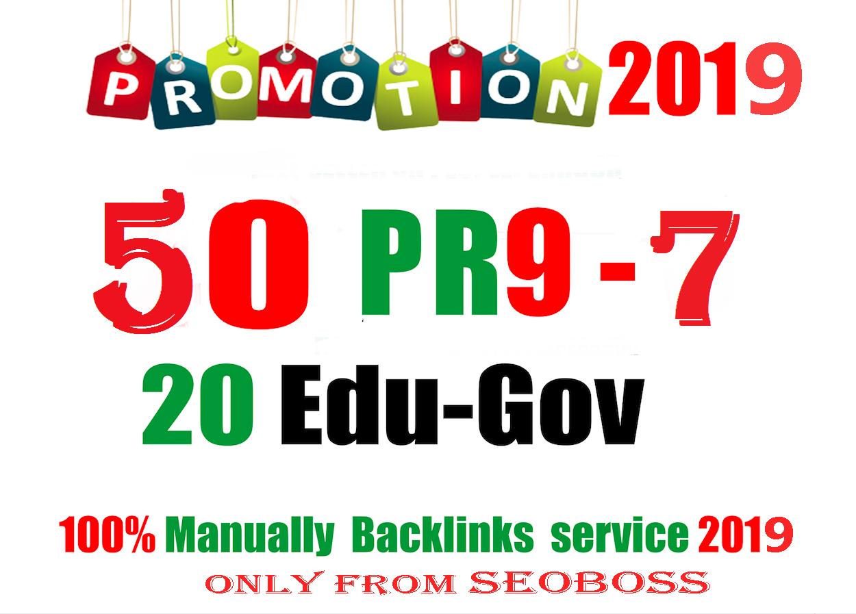 50 PR9 DA 80-100 + 20 EDU - GOV Highpr Safe SEO Authority Backlinks To Fire Your Google Ranking.