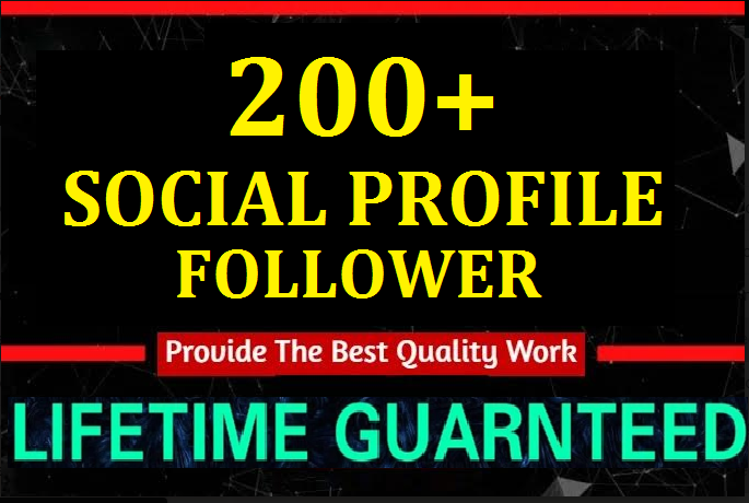 Instant 200+High Quality Profile Followers Social Media Marketing