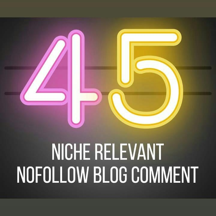 I'LL DO 45 NICHE RELEVANT BACKLINKS AS YOUR WEBSITE NICHE