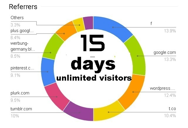 15 Days Live ORGANIC Real, Human & high quality Traffic with EXTRAS