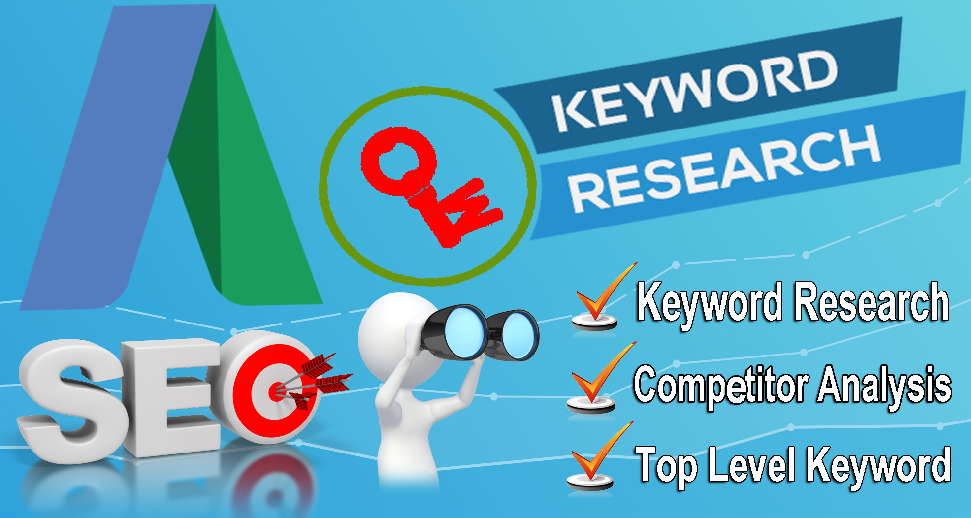 SEO keyword research and competitor report