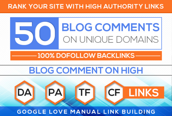 Do 50 Unique Domain High Quality Blog Comment