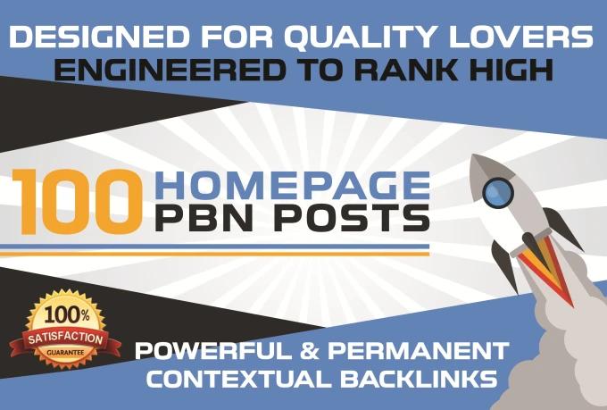 Build 100 Manual Da 15 Plus Homepage Pbn Post Backlinks
