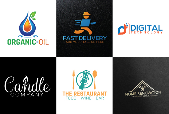 Design Best Unique Flat Minimalist Logo Design