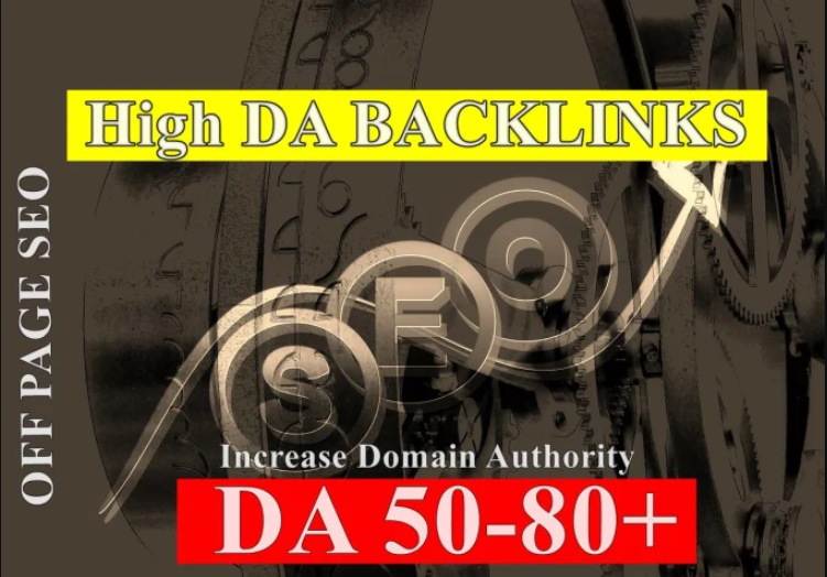 Do 30 Backlinks From High  DA Domain Website 50-80 DA websites