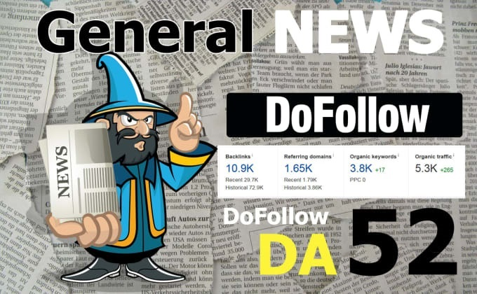 Write and Publish On My DA 52 General Blog With Dofoll0w Link