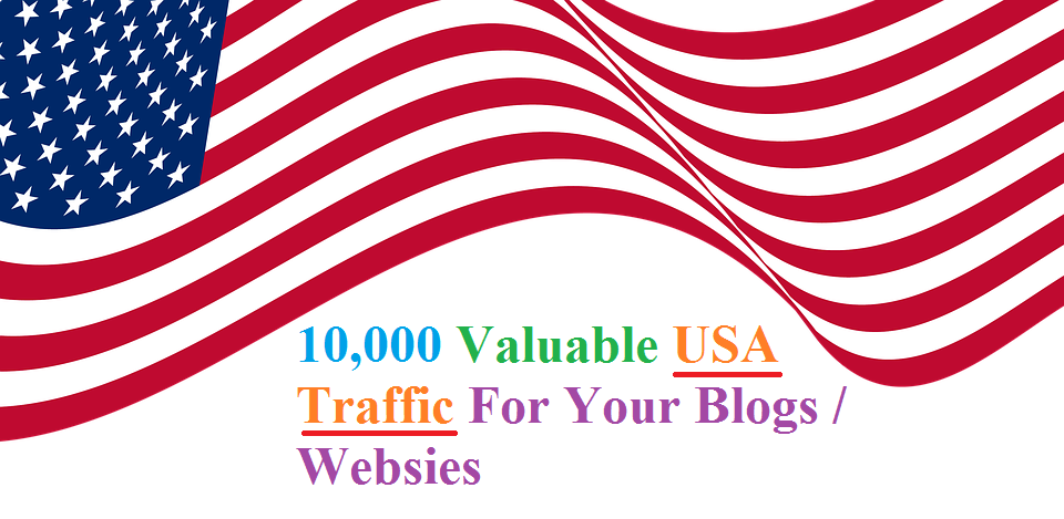 10,000 Valuable USA Traffic For Your Blogs / Websites