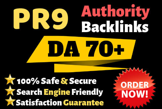 Boost Your Google Ranking With Manual Authority Pr9 Dofollow Backlinks
