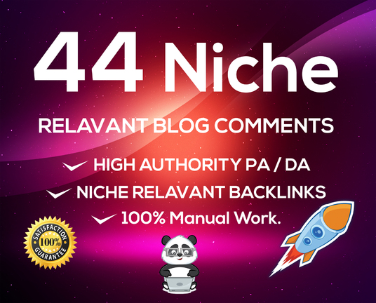 Provide 44 Niche Related Blog Comment High Qulaity Backlinks