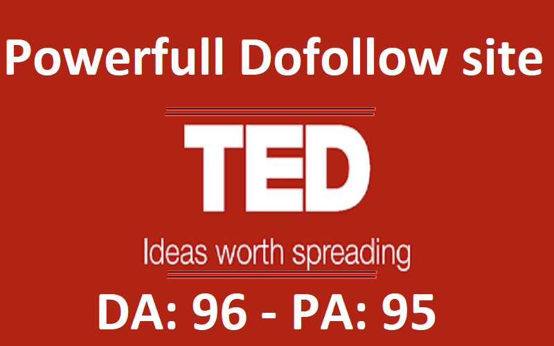 Place a guest post on DA- 96 high authority blog ted