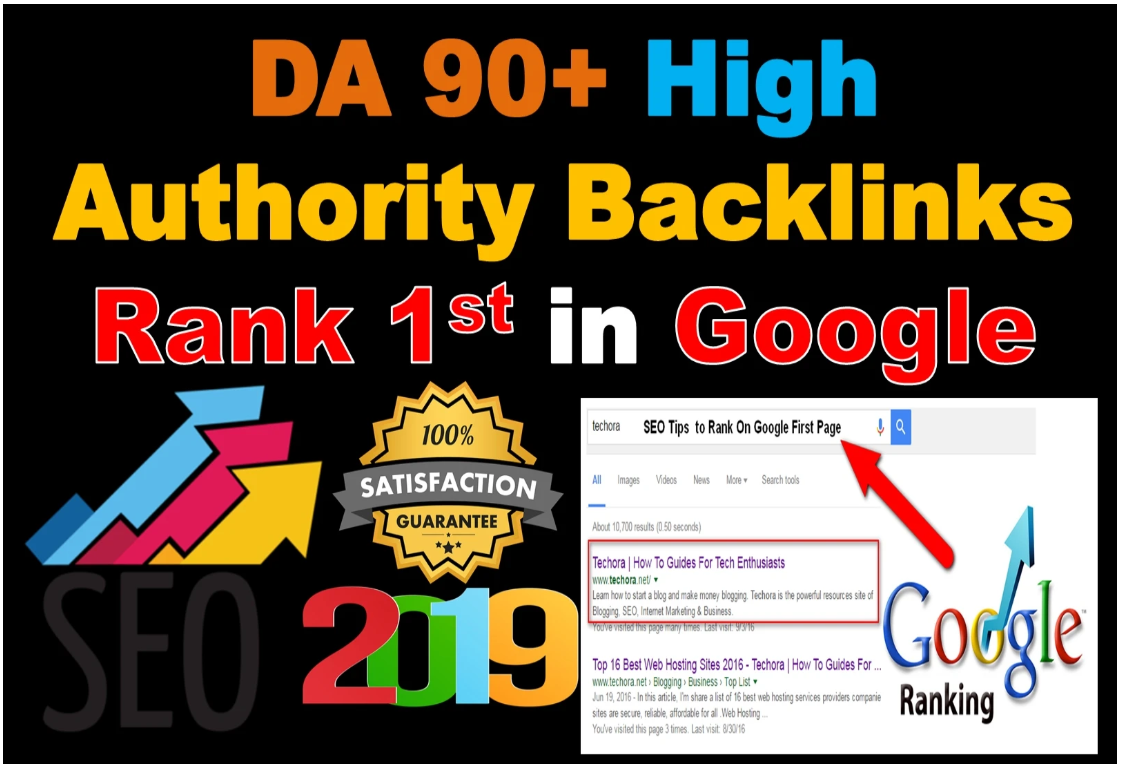 TOP OFFER - I Will Create DA90+ High Authority Backlinks To Rank 1st In Google