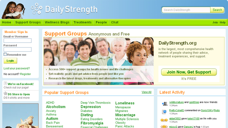 Give you guest post on dailystrength backlink- (DA-77)