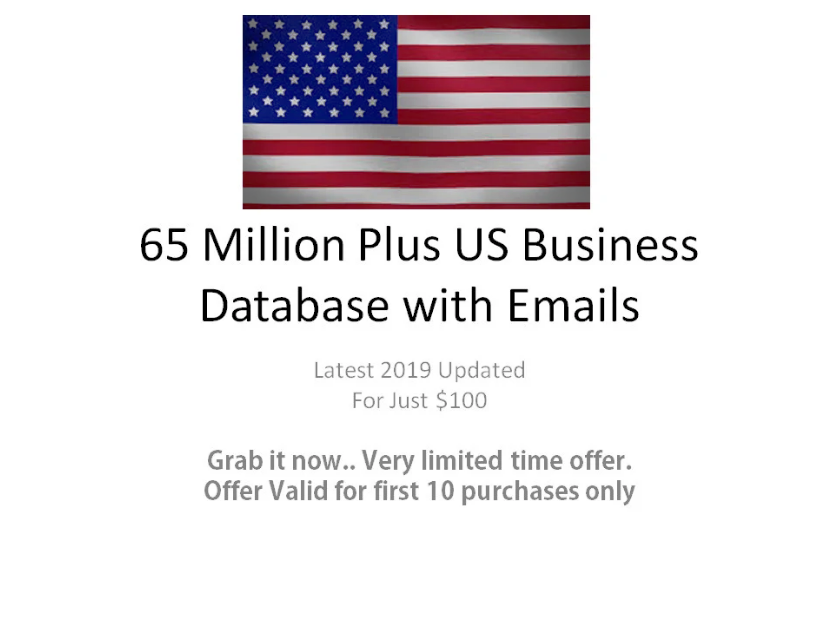 Provide 65 Million Plus US Business Database With Emails