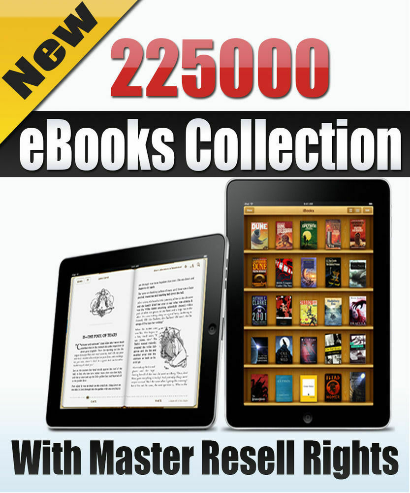 225000 PDF eBooks Package Collection With Master Resell Rights MRR PLR ePub, PDF