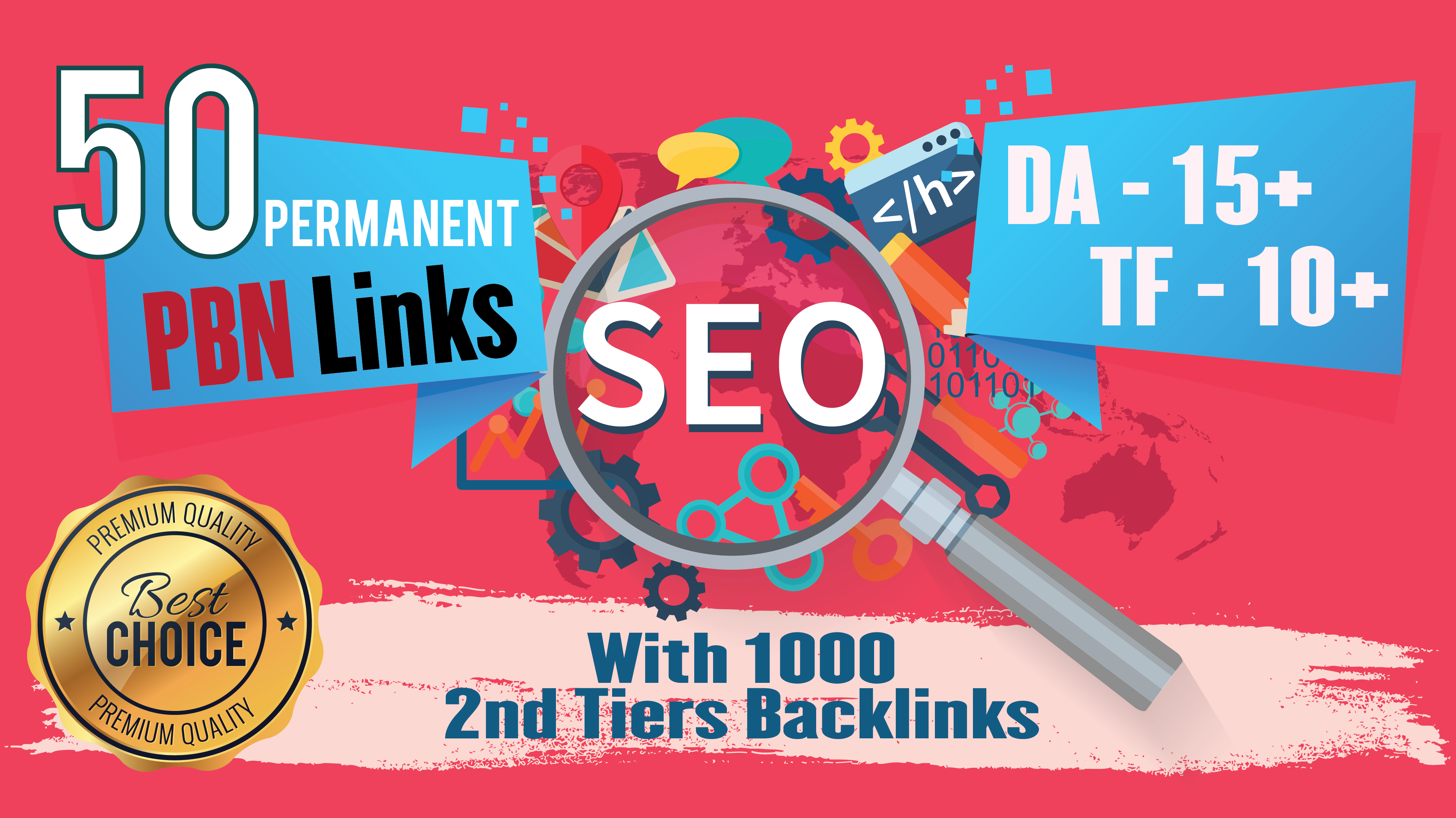 Permanent 50 Homepage Dofollow PBN With 1000 2nd Tiers Backlinks