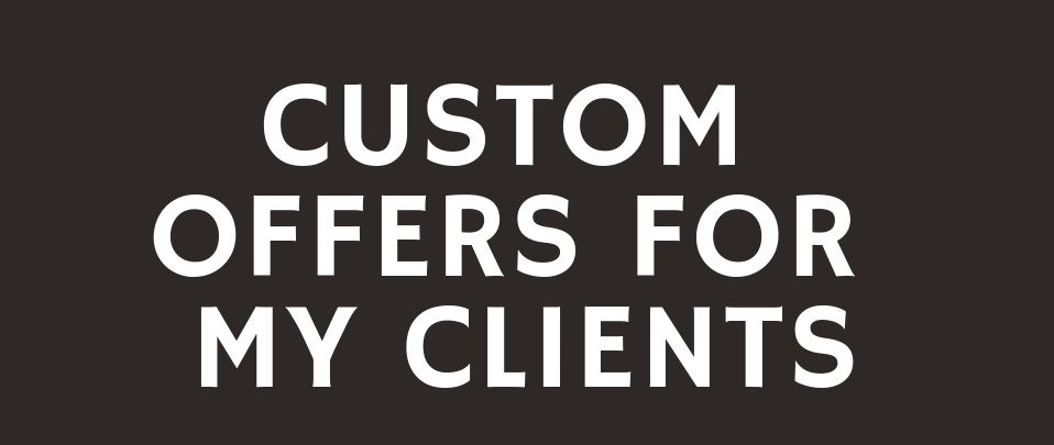 Providing Custom Offers For My Great Clients on SEOClerk