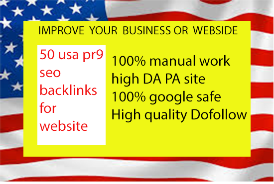 100 USA Backlinks For Ranking Your Website