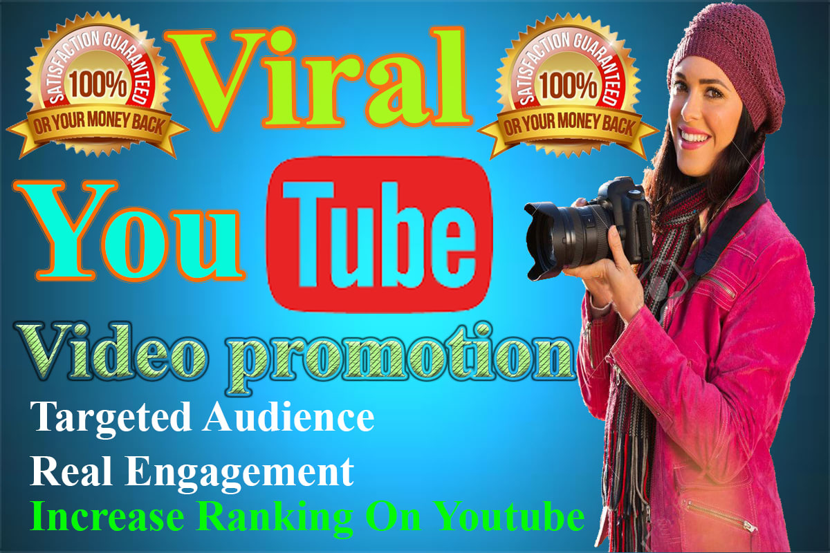 Viral Youtube Promotion with 2 million social media, Real People - No Bots