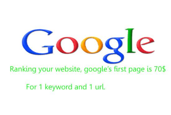 Guaranteed Google ranking service