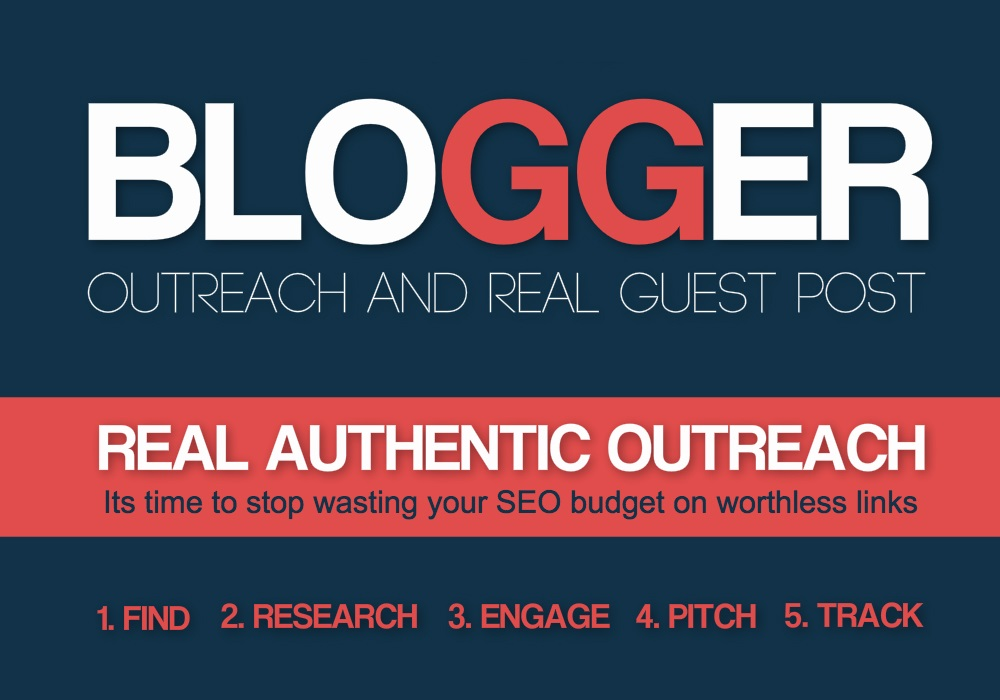 Place 20 blogger outreach guest posting service
