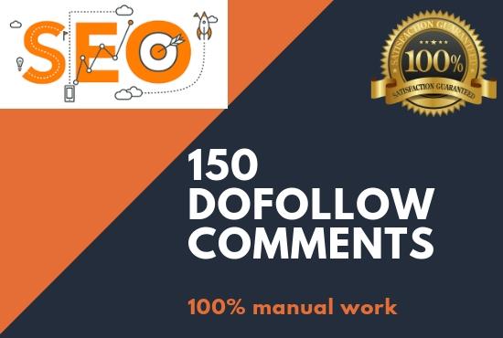 GET 150 UNIQUE AND NICHE RELEVANT BLOG COMMENTS