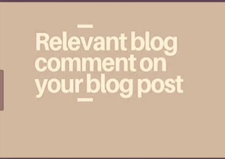 Get 30 Niche relevant blog comment back links
