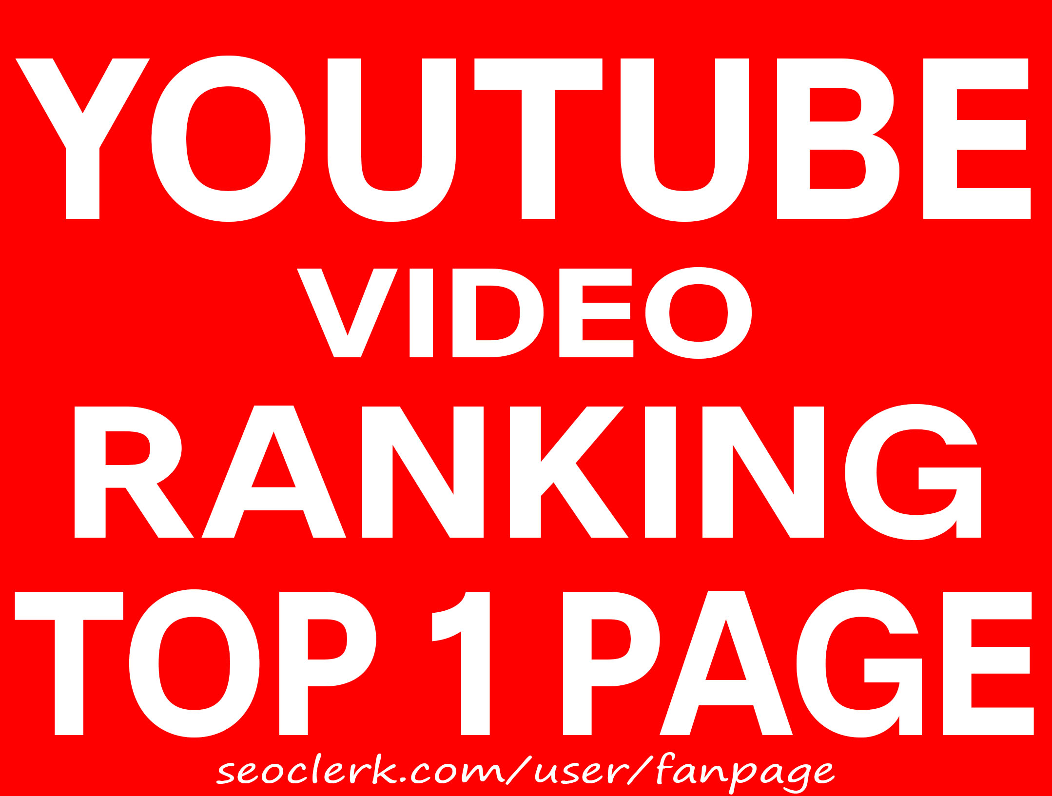 RANK YOUR VIDEO 1 PAGE ON YOUTUBE - VIRAL SEO RANKING - NOBODY RANKS BETTER