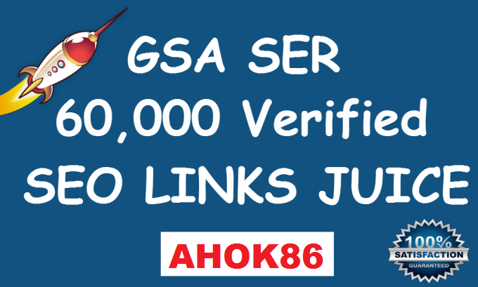 Get 60,000 verified gsa ser live backlinks for seo rankings