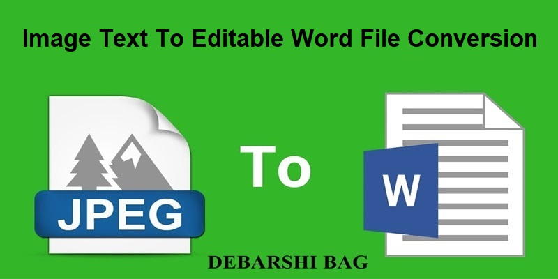 Image Text To Editable Word File,  Text Conversion For 4 Hours