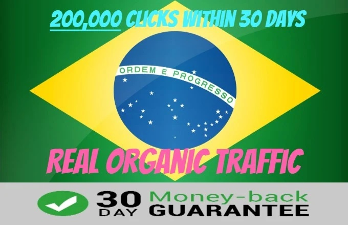 Send 200,000 Targeted Website Traffic From Brazil,  Organic Visits