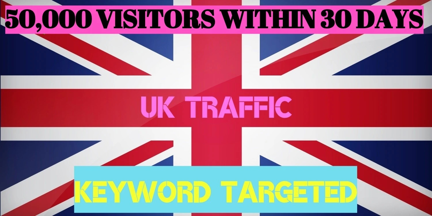 100k Targeted UK Web Traffic To Your Website