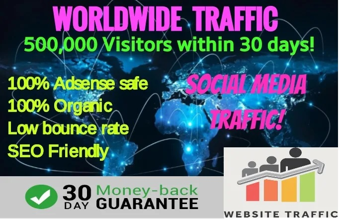 Send 200,000 Targeted Worldwide Website Traffic,  Adsense Safe