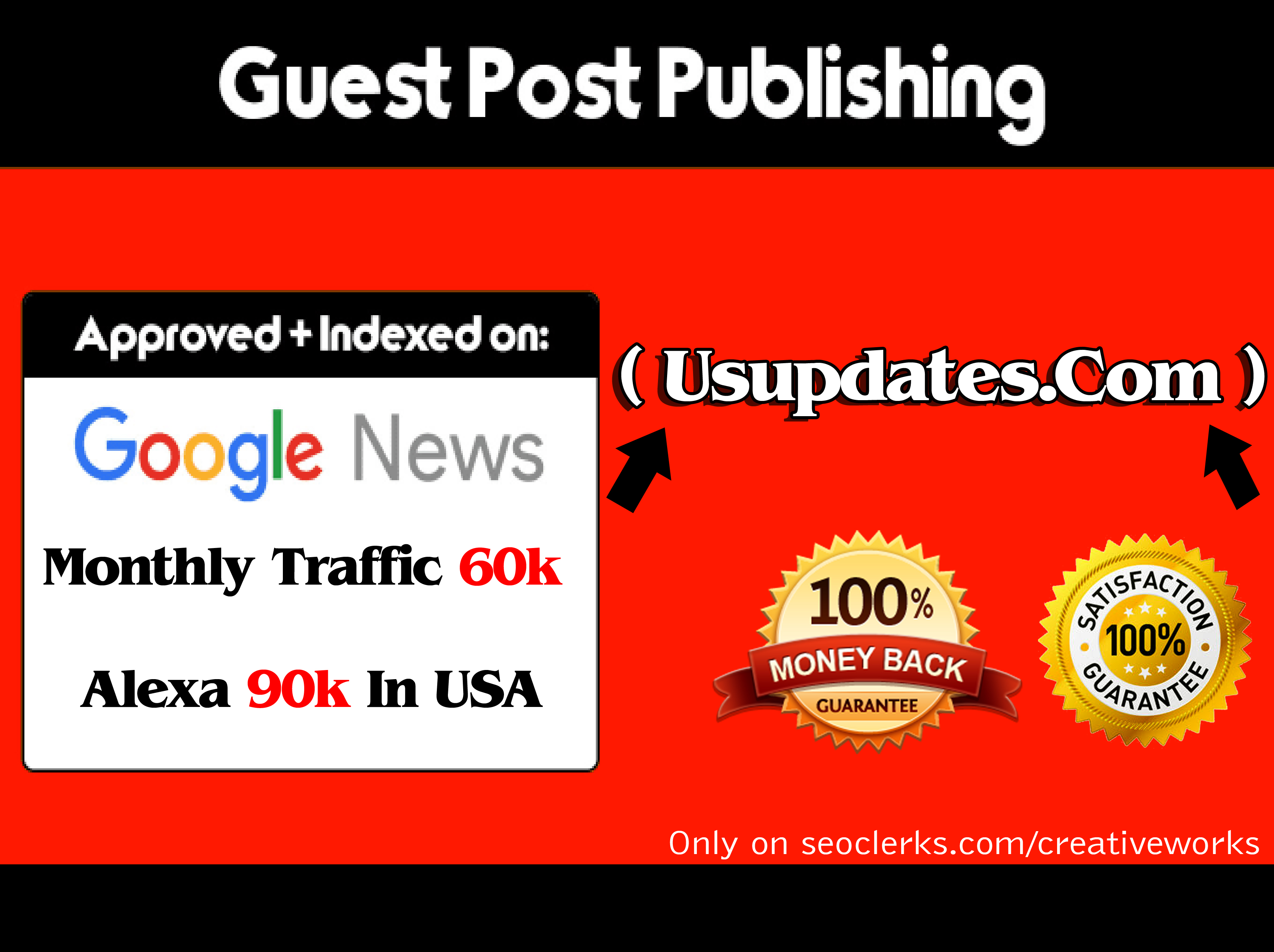 Publish a Guest Post On Usupdates  com for $39