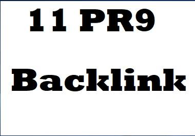 11 Pr9 Seo Backlink for your websites