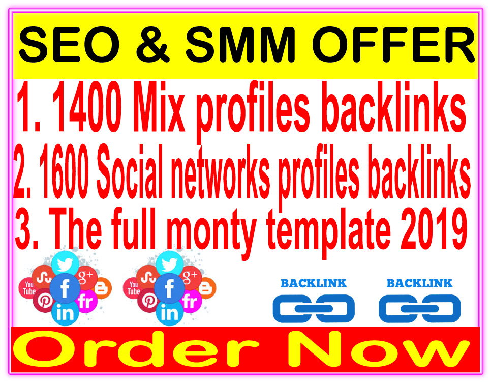 Indexer SEO  Package-2400 Mix profiles backlinks-1600 Social networks profiles-SEnuke - The full monty template