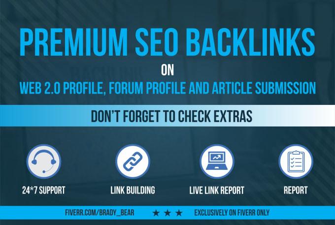 Create 50 web 2.0 High Quality Premium SEO Backlinks