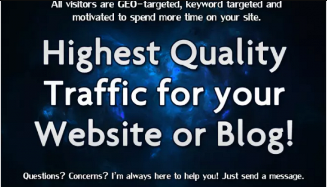 Real Website/Blog/Store Promotion with Quality TARGETED Visitors