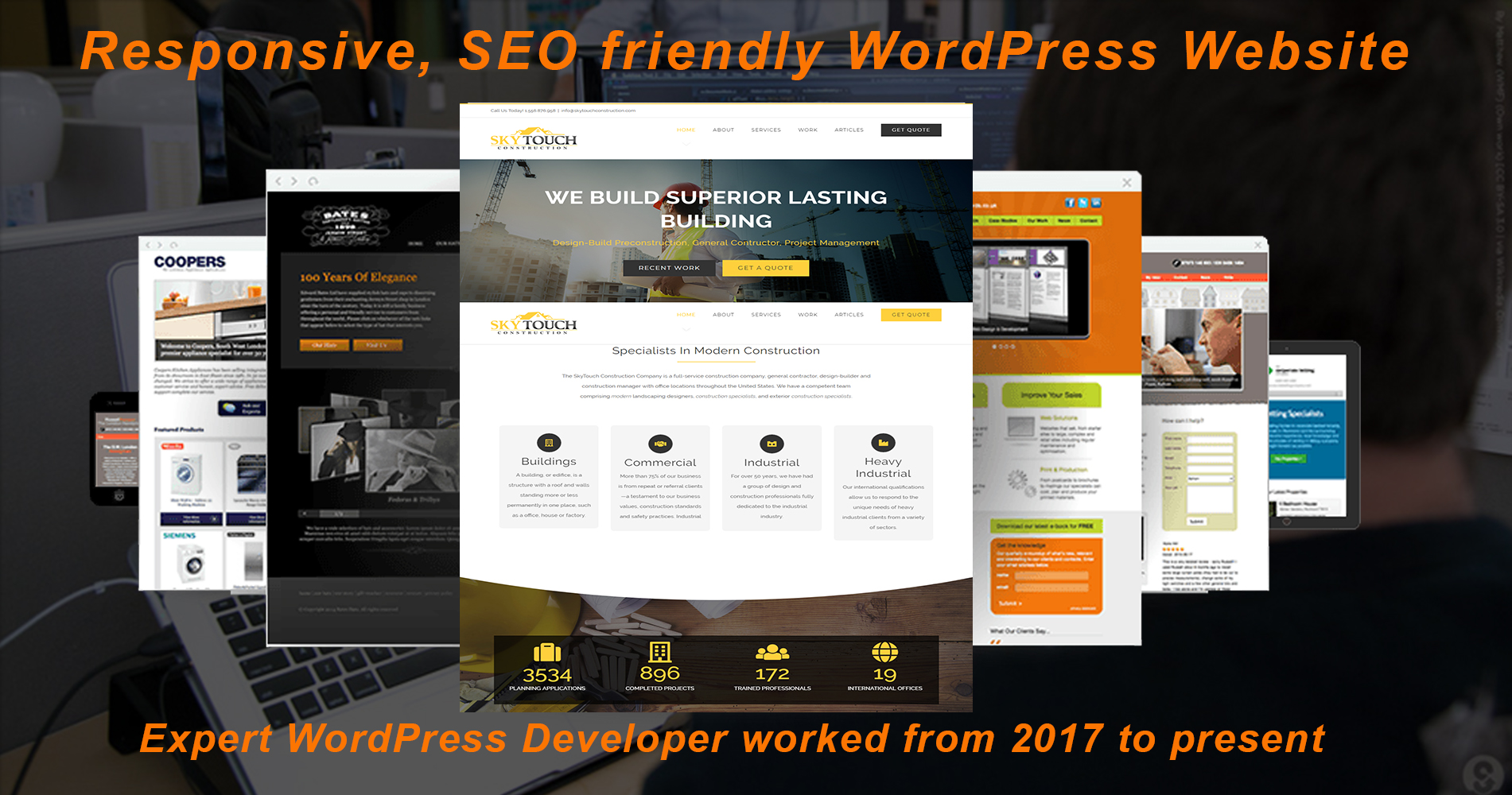 Create a Responsive WordPress Design Website With SEO implement