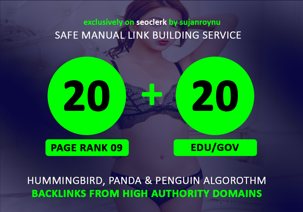 20 Pr9 + 20 Edu - Gov SEO High Pr 70+ Authority Backlinks Top One Google Ranks