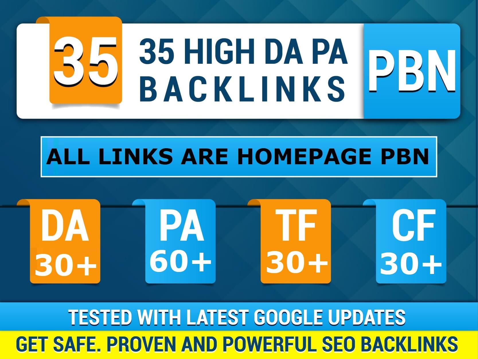 Build 35 Permanent Pbn Unique Domains High DA PA Contextual SEO Backlinks