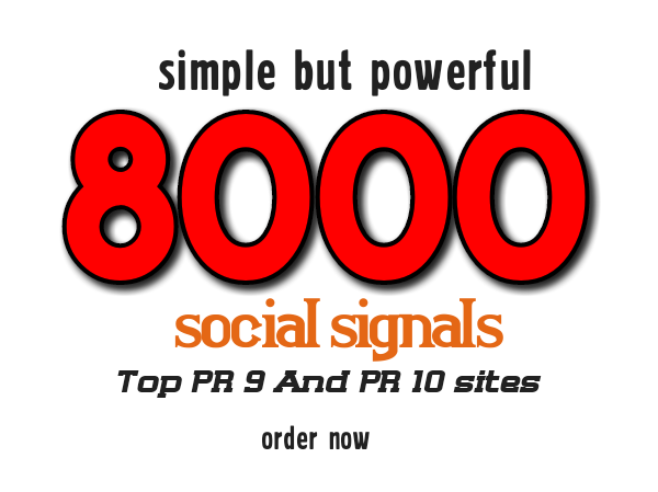 Manually 8k social signals boost your website or blog